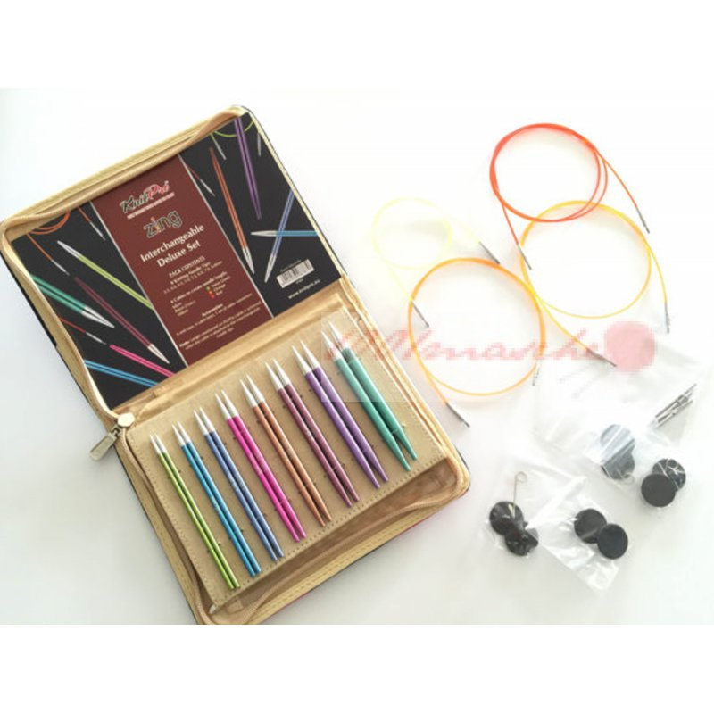 Knitting Needle Sets Circular Interchangeable Reviews : Knit pro nadelset zing deluxe masche