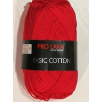 Pro Lana Basic Cotton uni 50g Fb.31 karminrot