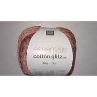 Rico Essentials Cotton Glitz DK 50g Fb.08 altrosa