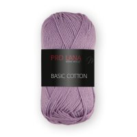 Pro Lana Basic Cotton uni 50g Fb.39 violett rot
