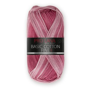 Pro Lana Basic Cotton fine color 50g Fb.281 himbeer color
