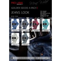 Pro Lana Golden Socks Jeans Look 4-fach 100g