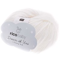 Rico Baby Dream dk Uni Lux Touch 50g Fb.01 weiss