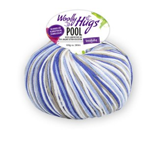 Woolly Hugs Pool 100g Fb.81 blau-hellblau--taupe-weiß