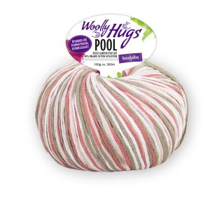 Woolly Hugs Pool 100g Fb.83 altrosa-taupe-weiß