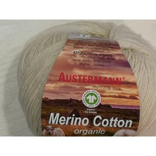 Austermann Merino Cotton Organic 50g Fb.01 natur