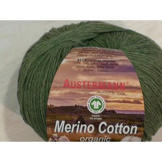 Austermann Merino Cotton Organic 50g Fb.12 grün