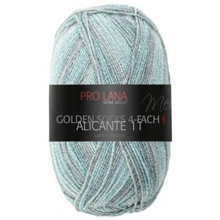 Pro Lana Golden Socks Alicante 11 4-fädig 100g Fb.926 jade/color