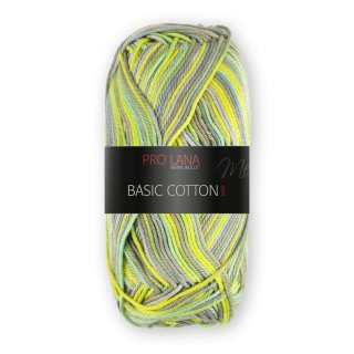 Pro Lana Basic Cotton color 50g Fb.107 lemon-grün-grau